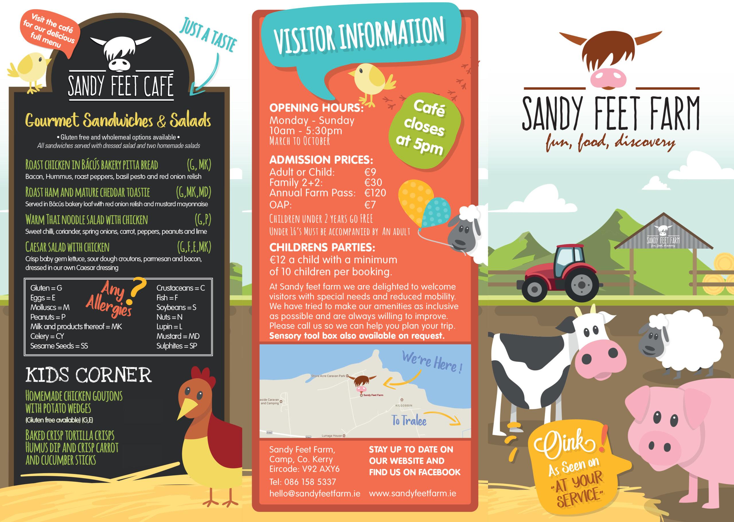 Sandy Feet Farm Kerry Map