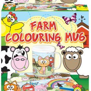 mug colouring farm book
